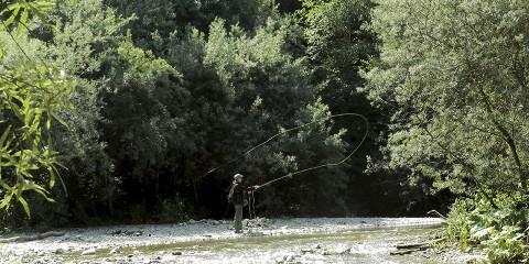 La pêche sur la rivière tagil